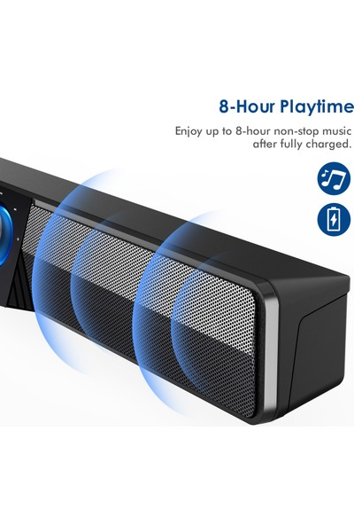 Elegiant USB Bluetooth 5.0 Bilgisayar Hoparlörleri Tv Sound Bar Ev Sinema Sistemi Soundbar (Yurt Dışından)