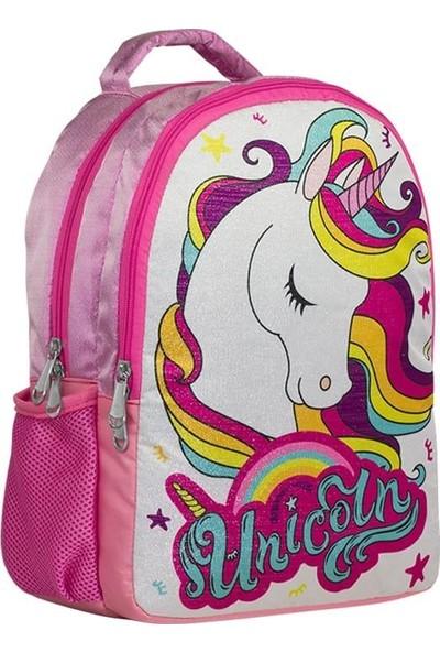 Master Pack Unicorn Simli Pembe Kız Çocuk Okul Çantası - Ilkokul- Ortaokul ve Günlük Sırt Çantası