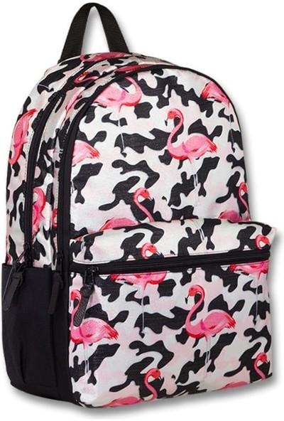 Master Pack Cennec Flamingo Pembe/siyah Genç Okul ve Günlük Sırt Çantası - Ortaokul- Kolej- Lise 155-R