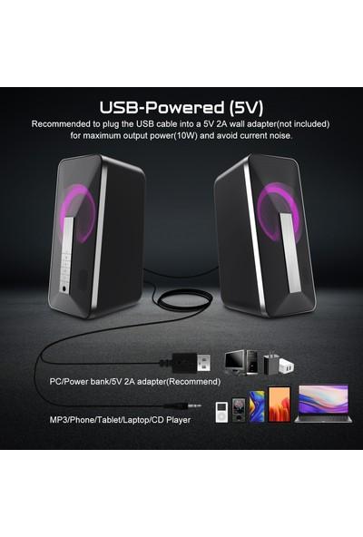 Elegiant USB Kablolu Bilgisayar Hoparlörleri (Yurt Dışından)