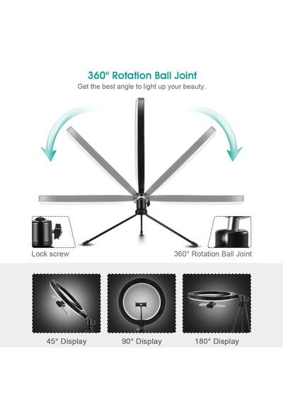 Elegıant Halka Işık Standı, 10'' LED Halka Işık Tripod Fotoğraf Video LED Aydınlatma (Yurt Dışından)