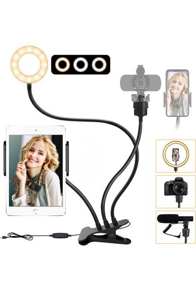 Elegiant 3.5'' LED Halka Işık & Stand & Makyaj Video Telefon Selfie Için Telefon Tutucu (Yurt Dışından)