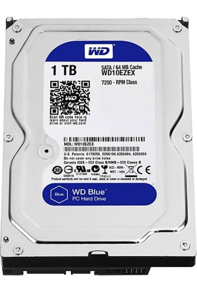 """Western Dıgıtal Wd Blue 1 Tb 3.5"""" 7200 Rpm Sata 3 WD10EZEX Güvenlik Harddisk HDD"""