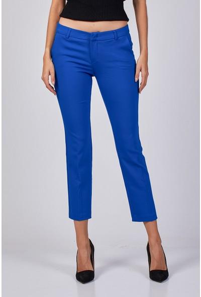 Coral Kumaş Pantolon Sax Mavi