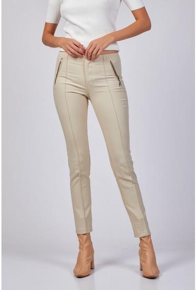 Coral Kumaş Pantolon Taş