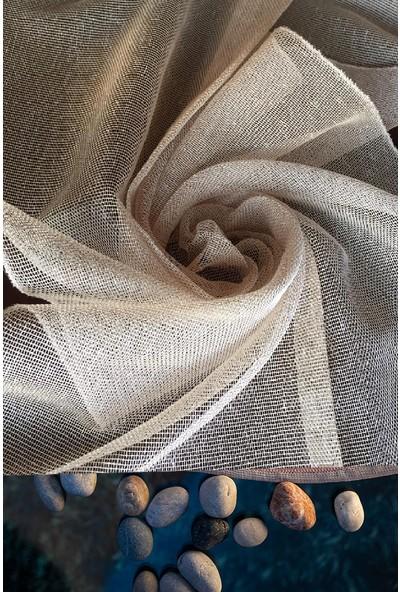Evdepo Home Çiğdem Tül Perde Ekstraforlu Pilesiz - Koyu Bej 240 x 260 cm