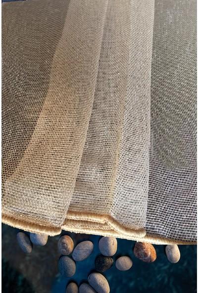 Evdepo Home Çiğdem Tül Perde 1/3 Sık Pile Pile - Koyu Bej 270 x 240 cm