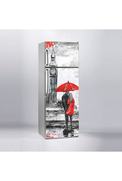Sticker Art Buzdolabı Sticker Kaplama Dolap Kaplama Etiketi Ingiltere Yağlıboya