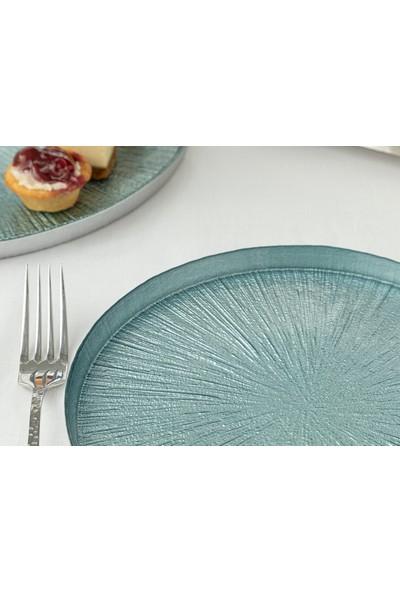 English Home Monreo Cam 6 Kişilik Pasta Setı 21 cm Mavi