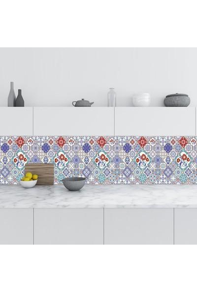Sticker Art Mutfak Tezgah Arası Folyo Fayans Kaplama Folyosu Türk Karo 60 x 400 cm