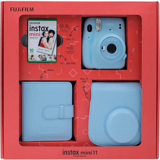 Fujifilm Instax Mini 11 Kare Albümlü Mavi Box