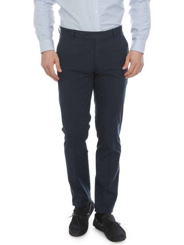 Brooks Brothers Erkek Gece Mavisi Marco Kesim Supima Pantolon
