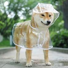 Hong Store Şeffaf Suya Dayanıklı Kapüşonlu Köpek Yağmurluğu (Yurt Dışından)