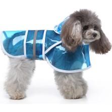 Hong Store Yansıtıcı Şeffaf Evcil Hayvan Yağmurluk (Yurt Dışından)