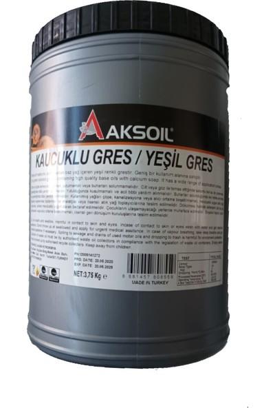 Aksoil Kauçuklu Yeşil Gres Yağı 3,75 kg (Üretim Yılı: 2020)