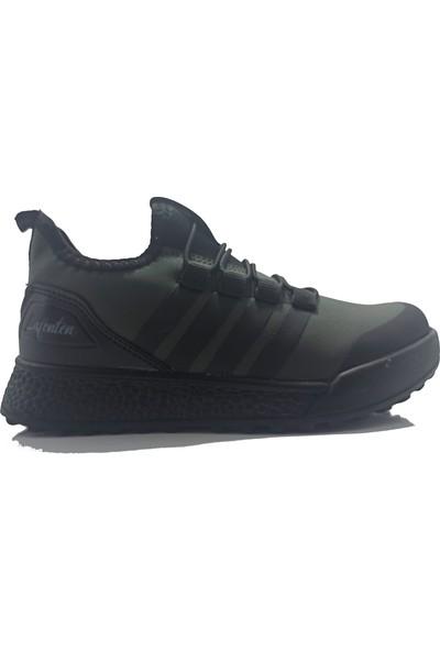 Lafonten 706 Filet Cilt Haki-Siyah Çocuk Ayakkabı
