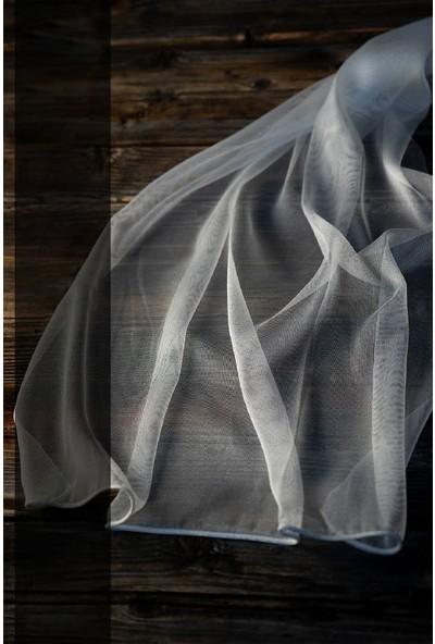 Evdepo Home Monalisa Tül Perde 1/2 Seyrek Pile - Beyaz 140 x 250 cm