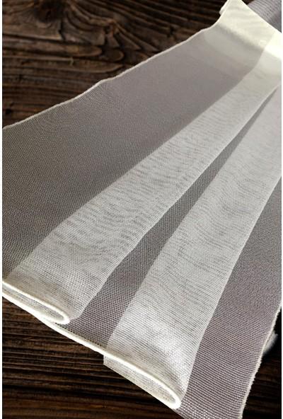 Evdepo Home Çelik Tül Perde Ekstraforlu Pilesiz - Ekru 110 x 250 cm