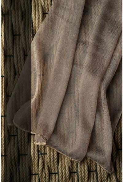Evdepo Home Adler Tül Perde 1/2 Seyrek Pile - Gri 280 x 270 cm