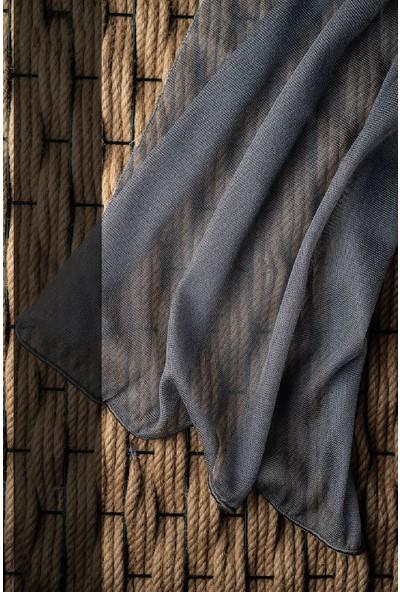 Evdepo Home Adler Tül Perde 1/2 Seyrek Pile - Gri 240 x 260 cm