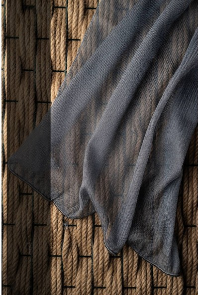 Evdepo Home Adler Tül Perde 1/2,5 Normal Pile - Gri 150 x 270 cm