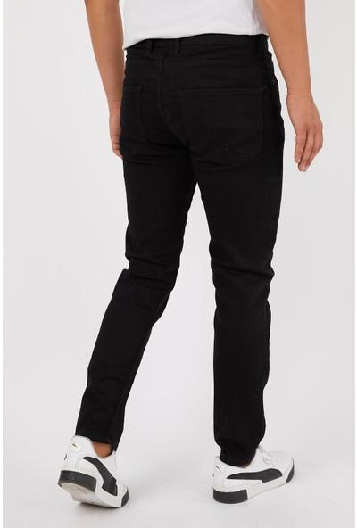 Las Vegas Siyah Renk Eskitme Erkek Kot Pantolon