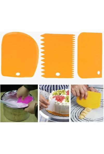 Bahrem Hamur Şekillendirici Kesici Kazıyıcı Pasta Kek Dekorasyon Seti