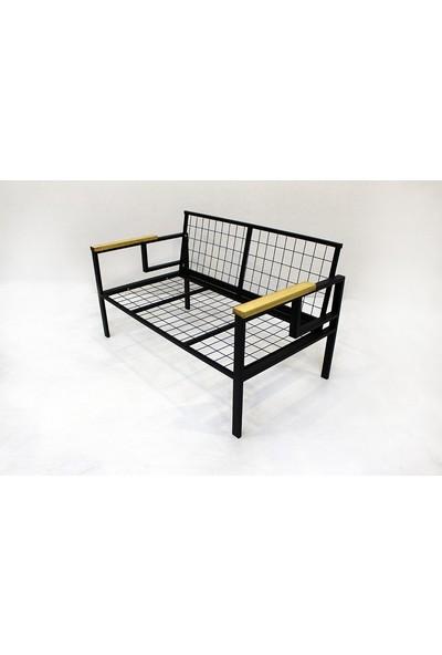 Pimango Demonte Bahçe Mobilyası Balkon Mobilyası Çay Seti Sarı