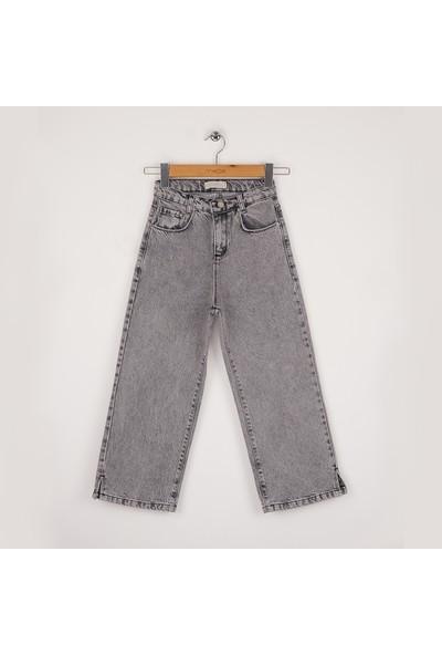 Mutlu Kids Geniş Paça Yırtmaçlı Kız Pantolon