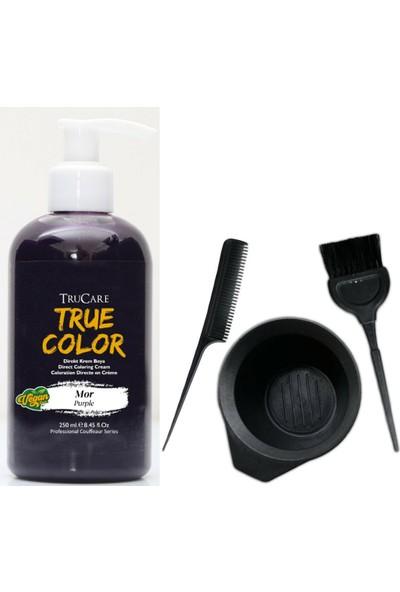 Palette Truecolor Renkli Saç Boyası Mor, Pudrashine Saç Boya Kabı Seti