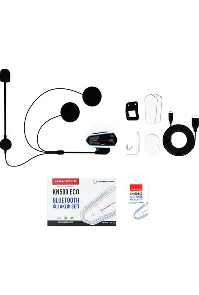 Knmaster KN500 Eco Motosiklet Bluetooth İnterkom Kulaklık Mikrofon Seti