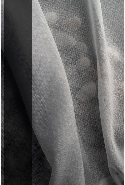Evdepo Home Doss Tül Perde 1/3 Sık Pile Pile - Ekru 360 x 250 cm
