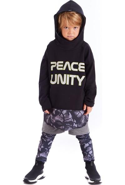 Colorinas Unity Slogan Baskılı Sweatshirt Siyah