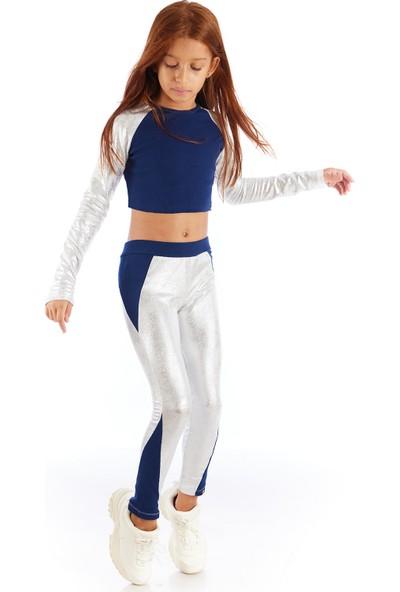 Colorinas Gümüş Varak Tayt Atlet Takım
