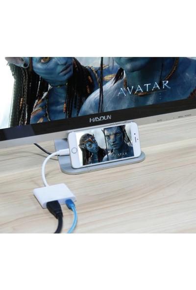 Ice iPhone 6 7 8 11 Xr Lightning To HDMI Çevirici Dönüştürücü Adaptör