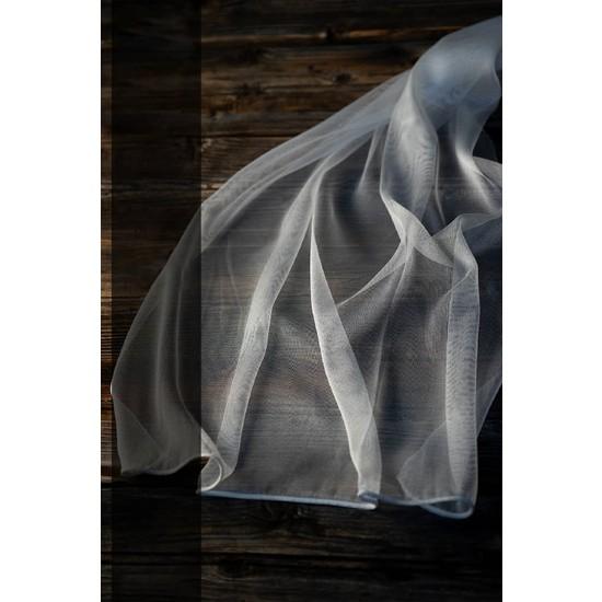 Evdepo Home Monalisa Tül Perde 1/2 Seyrek Pile - Beyaz 320 x 260 cm