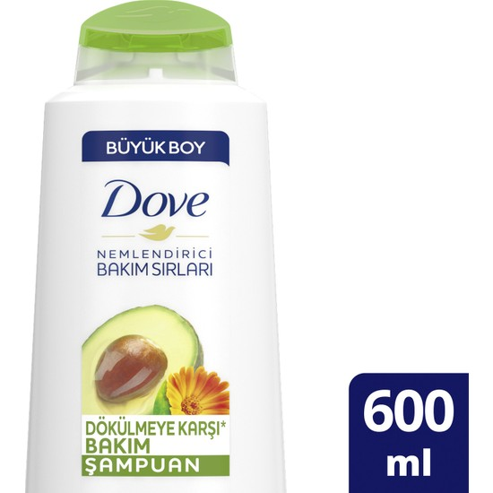 Dove Dökülmeye Karşı Saç Bakım Şampuanı Avokado Özü ve Kalendula Özü 600 ML 1 Adet