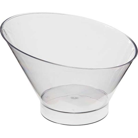 Sofora 15 Adet Sert Plastik Oval Kase Tatlı Kabı 220 cc