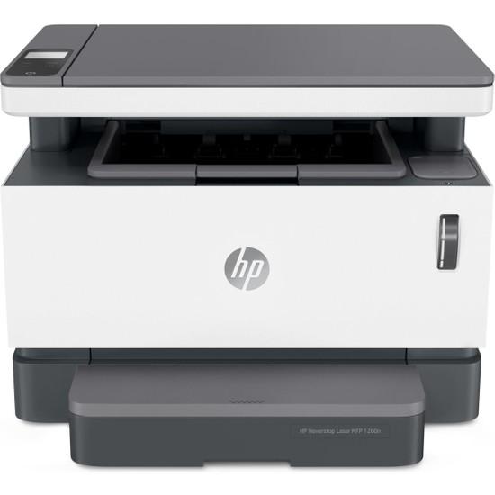 Hp Neverstop Laser Mfp 1200N Fotokopi + Tarayıcı + Ethernet Tanklı Lazer Yazıcı 5HG87A