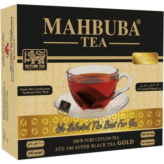 Mahbuba STD 100 Gold ( Ceylon ) Seylan Siyah Sallama Bardak Poşet Çay 100x2gr