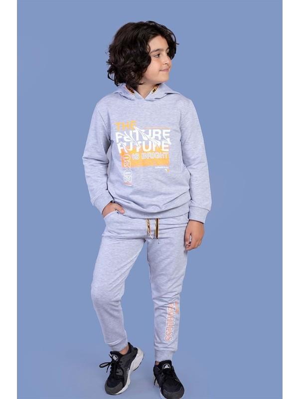 Toontoy Kids Toontoy Erkek Çocuk Kapüşonlu Baskılı Eşofmantakımı