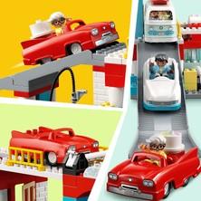 LEGO® Duplo® Otopark ve Oto Yıkama 10948 Oto Yıkama, Benzin Istasyonu ve Otopark İçeren Çocuk Yapım Oyuncağı (112 Parça)