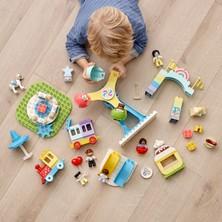 LEGO® Duplo® Kasabası Lunapark 10956 Tren, Dönmedolap, Atlıkarınca ve Daha Fazlasını İçeren Lunapark Yapım Oyuncağı (95 Parça)