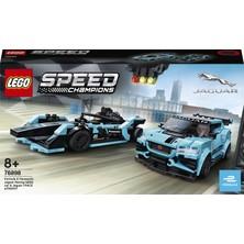 LEGO® Speed Champions 76898 Formula E Panasonic Jaguar Racing Gen2 araba ve Jaguar I-PACE eTROPHY
