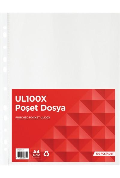 Noki UL100X A4 Poşet Dosya 100'LÜ Paket