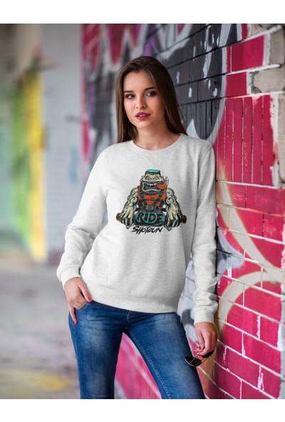 Grif Kadın Shotgun Baskılı Sweatshirt