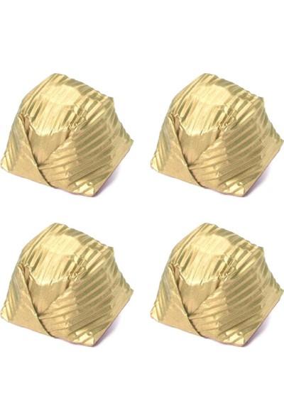 Melodi Çikolata Yaldız Kristal Fındık Krema Dolgulu Sütlü Çikolata Gold 500 gr