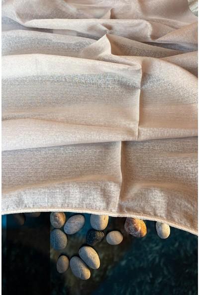 Evdepo Home Doss Tül Perde 1/3 Sık Pile Pile - Gri 190 x 240 cm
