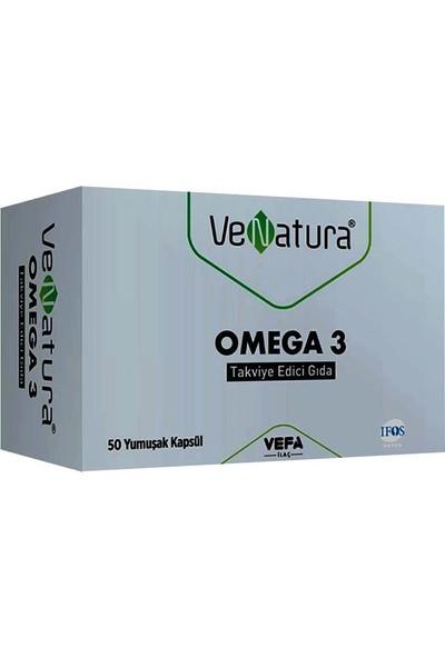 Venatura Omega 3 Takviye Edici Gıda 50 Yumuşak Kapsül