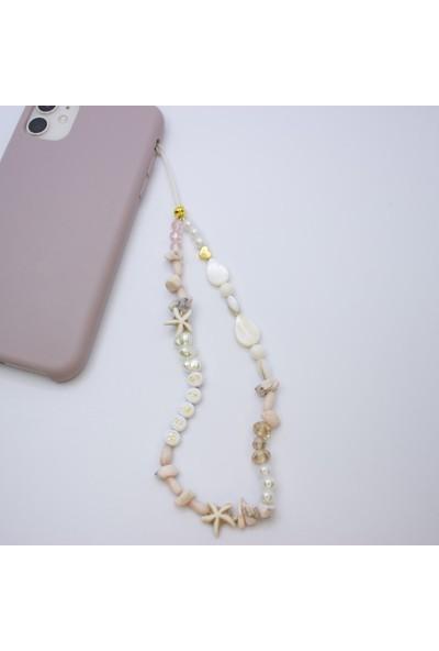 D'amore Atelier Doğal Taş Deniz Yıldızı Isimli Telefon Askısı